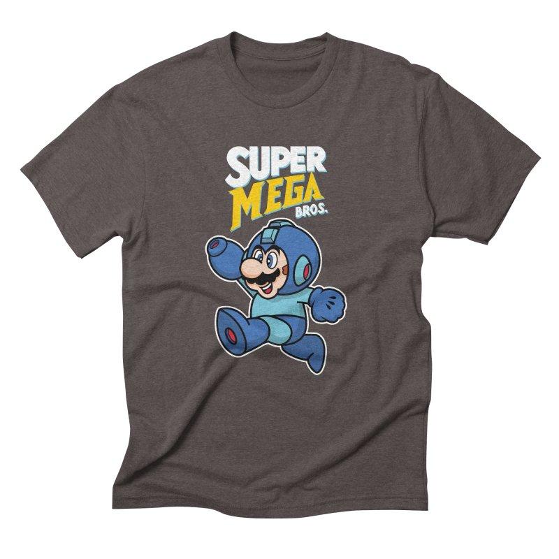 Super Mega Bros  Men's Triblend T-Shirt by Mdk7's Artist Shop