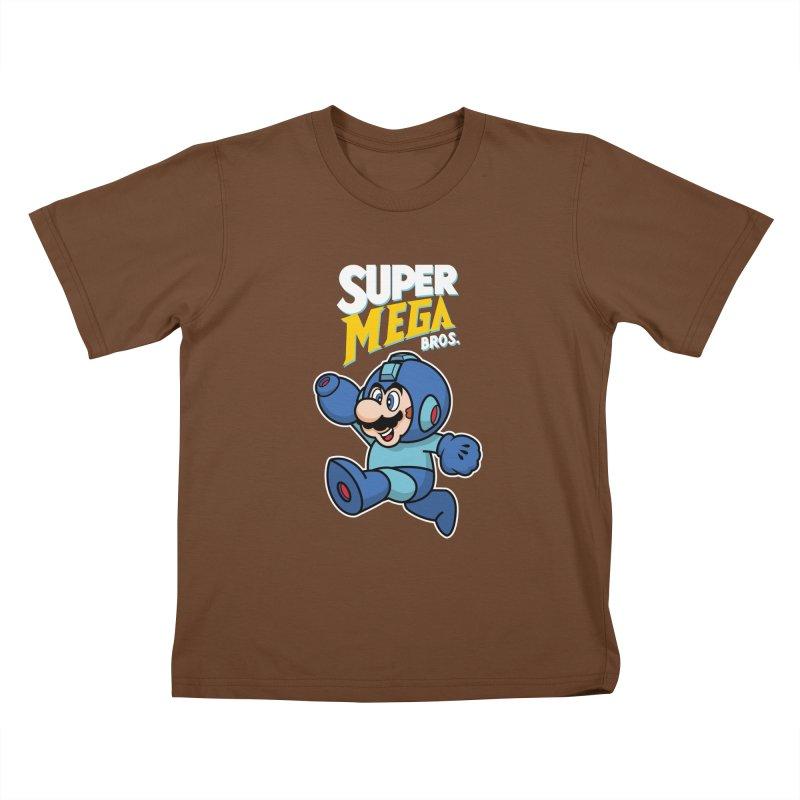Super Mega Bros  Kids T-Shirt by Mdk7's Artist Shop