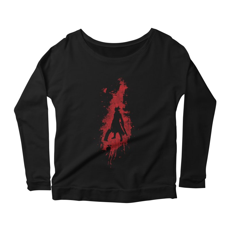 Born in Blood Women's Longsleeve Scoopneck  by Mdk7's Artist Shop