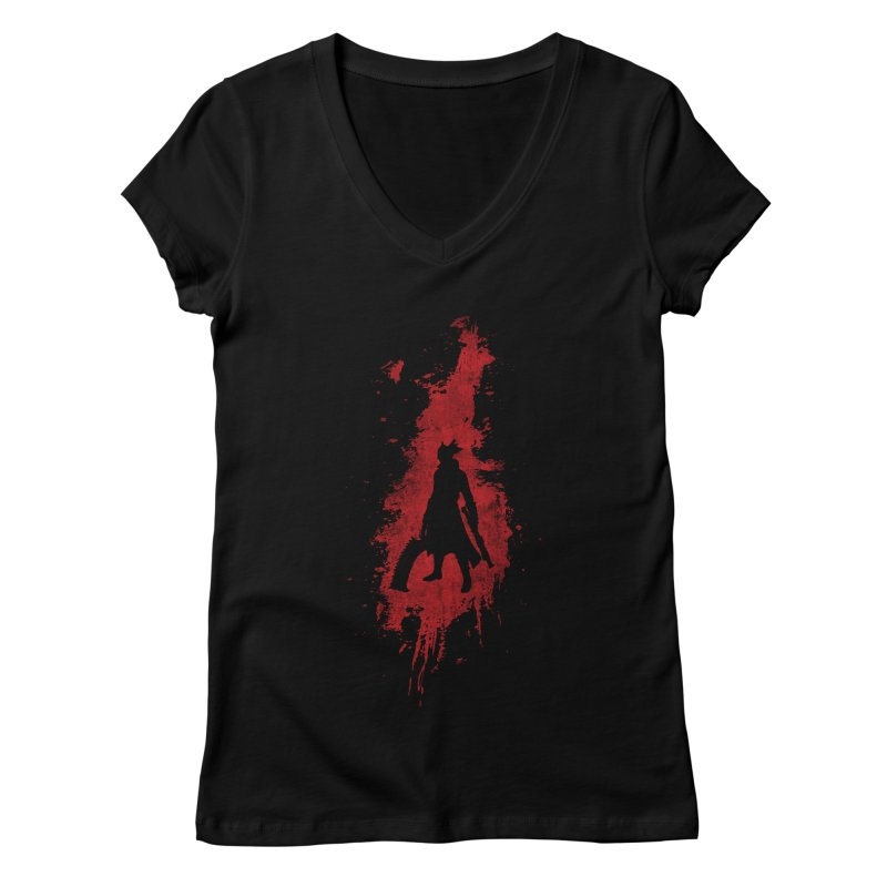 Born in Blood Women's Regular V-Neck by Mdk7's Artist Shop