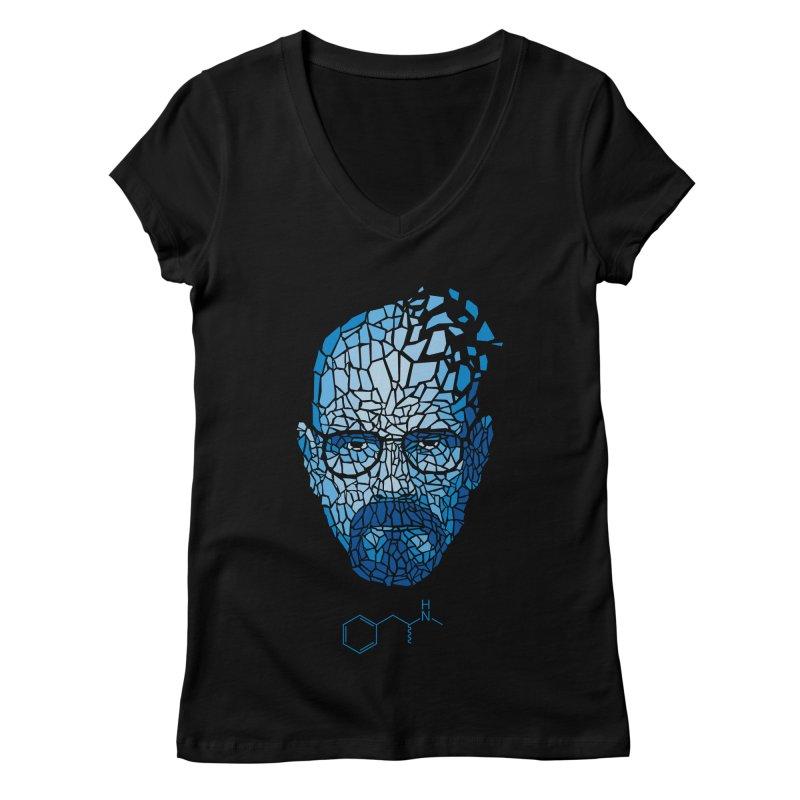 Crystal Heisenberg Women's Regular V-Neck by Mdk7's Artist Shop