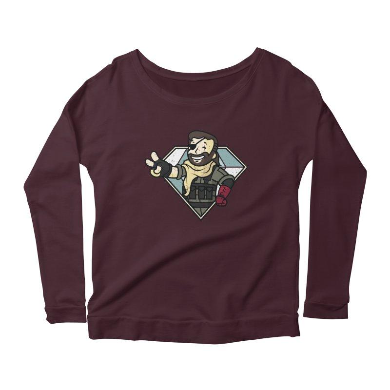 Vault Boss! Women's Scoop Neck Longsleeve T-Shirt by Mdk7's Artist Shop