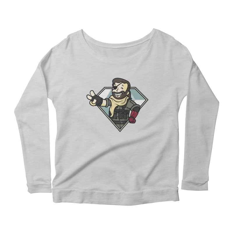 Vault Boss! Women's Scoop Neck Longsleeve T-Shirt by Mdk7's Artist Shop