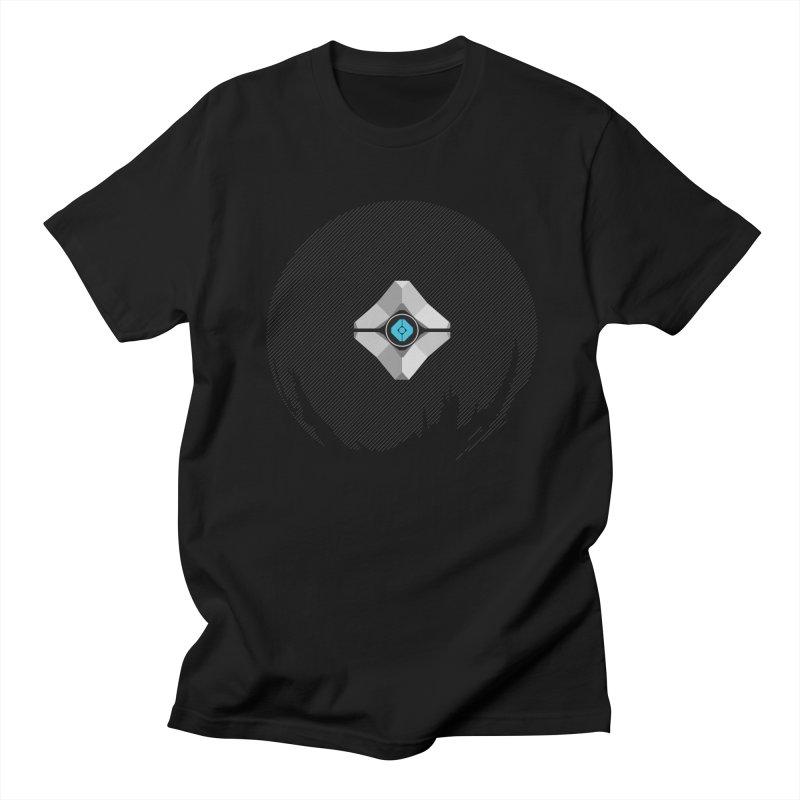 Minimal moon companion Men's Regular T-Shirt by Mdk7's Artist Shop