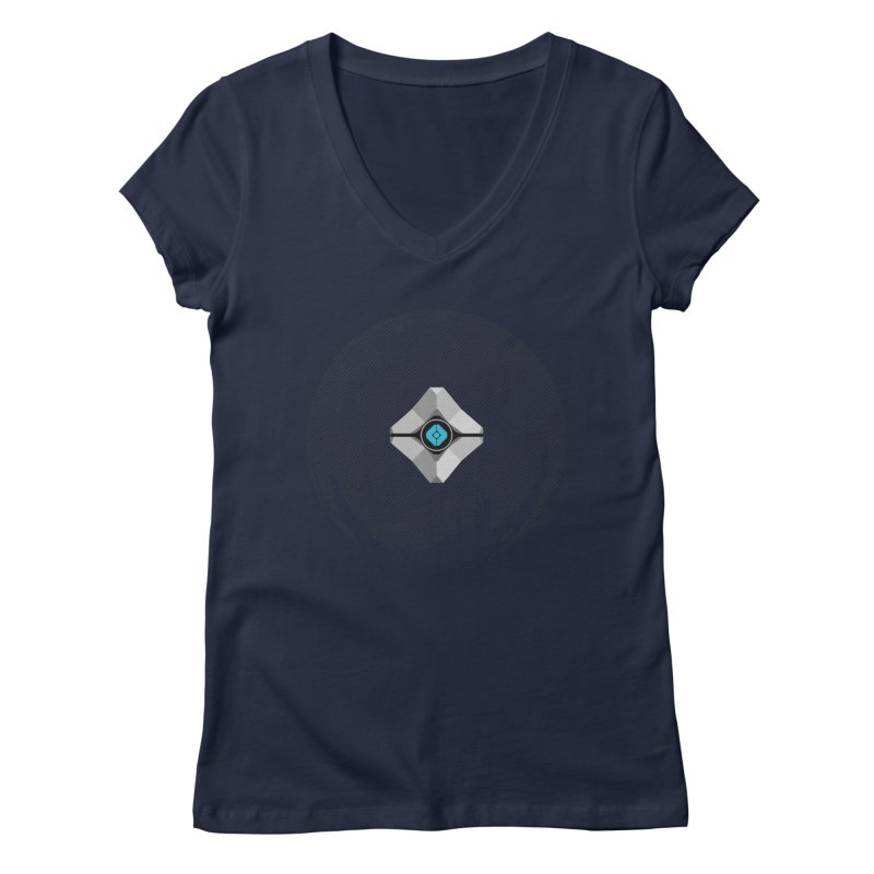 Minimal moon companion Women's Regular V-Neck by Mdk7's Artist Shop