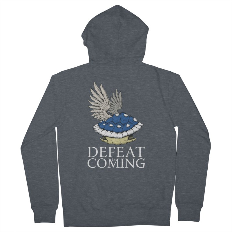 Defeat is coming Women's French Terry Zip-Up Hoody by Mdk7's Artist Shop