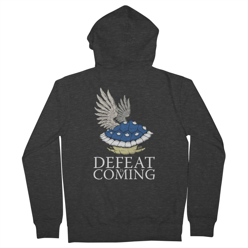 Defeat is coming Men's French Terry Zip-Up Hoody by Mdk7's Artist Shop