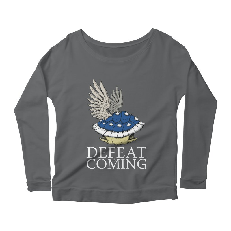 Defeat is coming Women's Longsleeve Scoopneck  by Mdk7's Artist Shop