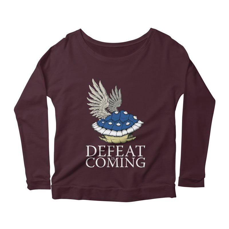 Defeat is coming Women's Scoop Neck Longsleeve T-Shirt by Mdk7's Artist Shop
