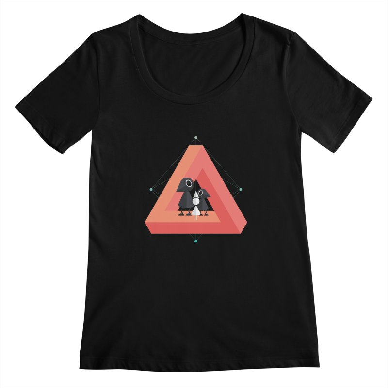 Penrose Kingdom Women's Scoopneck by Mdk7's Artist Shop