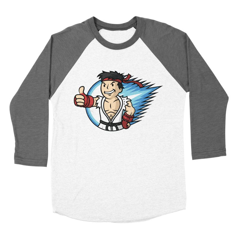 Hadouken Boy! Women's Baseball Triblend T-Shirt by Mdk7's Artist Shop