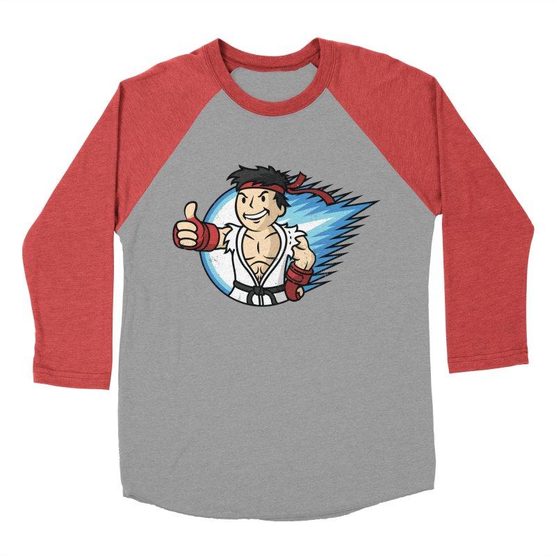 Hadouken Boy! Women's Baseball Triblend Longsleeve T-Shirt by Mdk7's Artist Shop