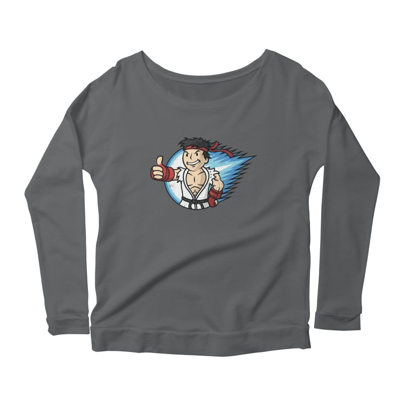 Hadouken Boy! Women's Longsleeve Scoopneck  by Mdk7's Artist Shop