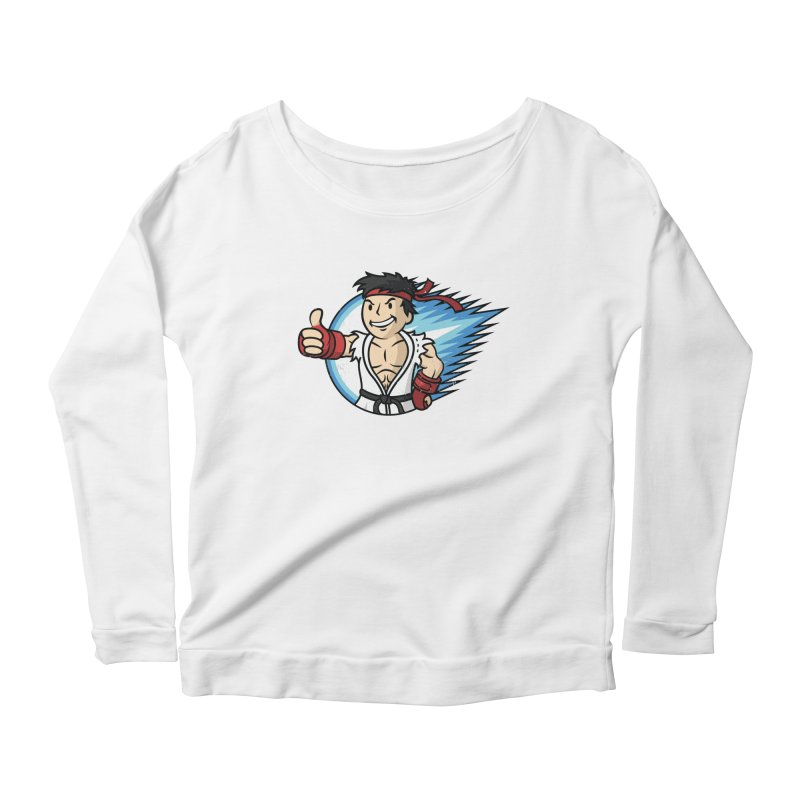 Hadouken Boy! Women's Scoop Neck Longsleeve T-Shirt by Mdk7's Artist Shop