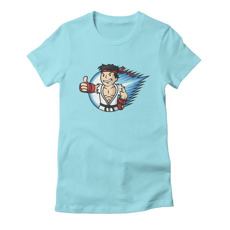 Hadouken Boy! Women's Fitted T-Shirt by Mdk7's Artist Shop