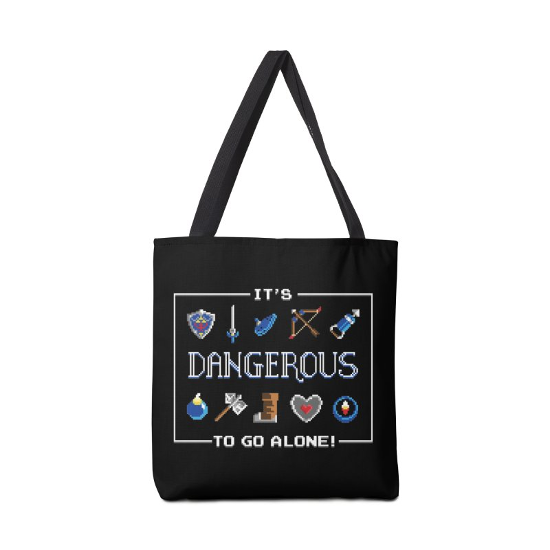 It's Dangerous To Go Alone Accessories Bag by Meager Quest Merch Store