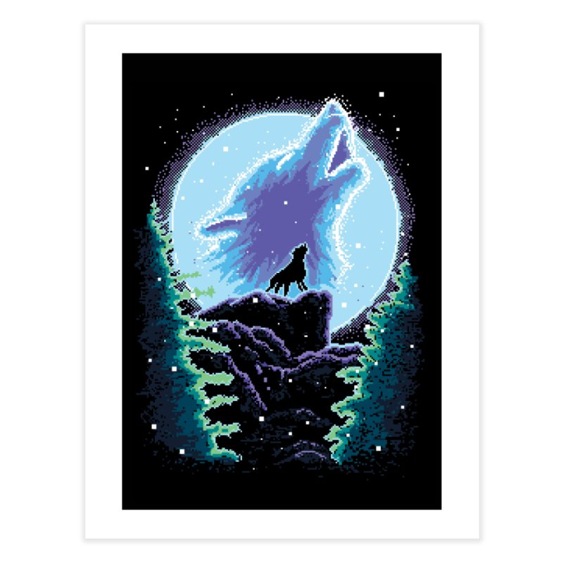Spirit Animal Home Fine Art Print by Meager Quest Merch Store