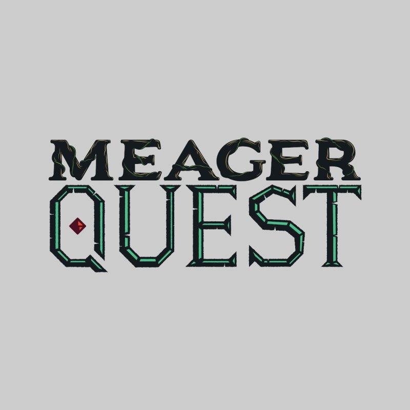 Meager Quest Logo - Full Color by Meager Quest Merch Store