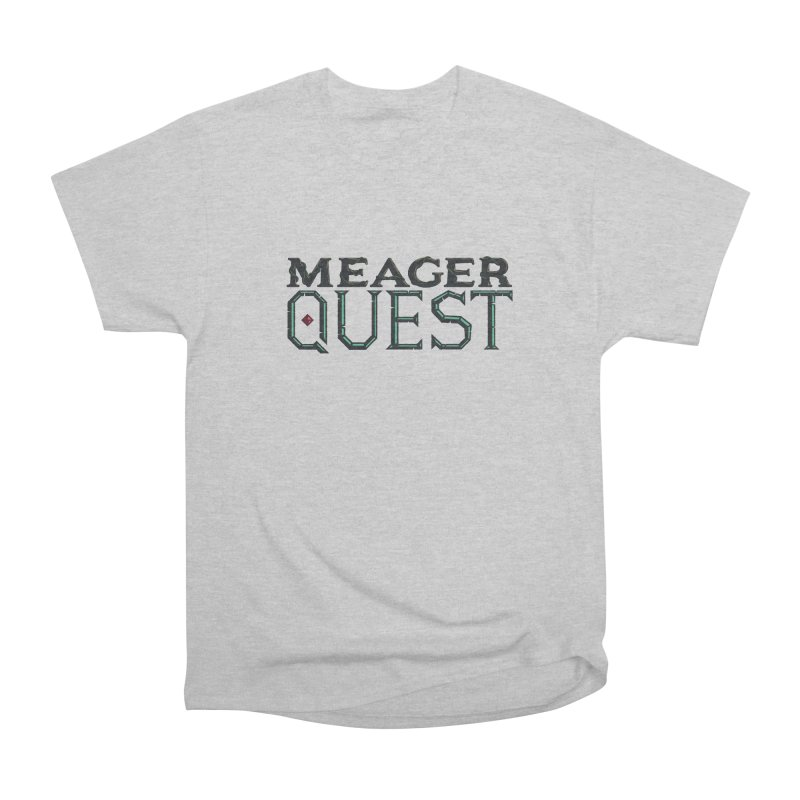 Meager Quest Logo - Full Color in Men's Heavyweight T-Shirt Heather Grey by Meager Quest Merch Store