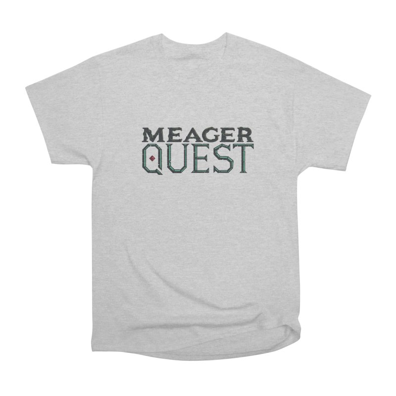Meager Quest Logo - Full Color Women's Heavyweight Unisex T-Shirt by Meager Quest Merch Store