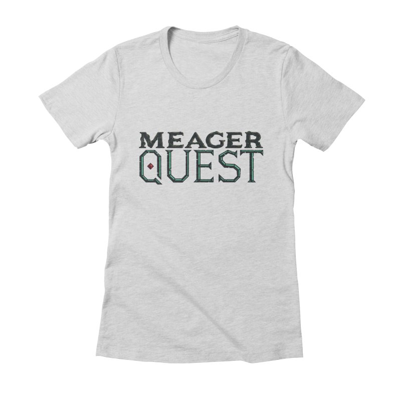 Meager Quest Logo - Full Color Women's Fitted T-Shirt by Meager Quest Merch Store