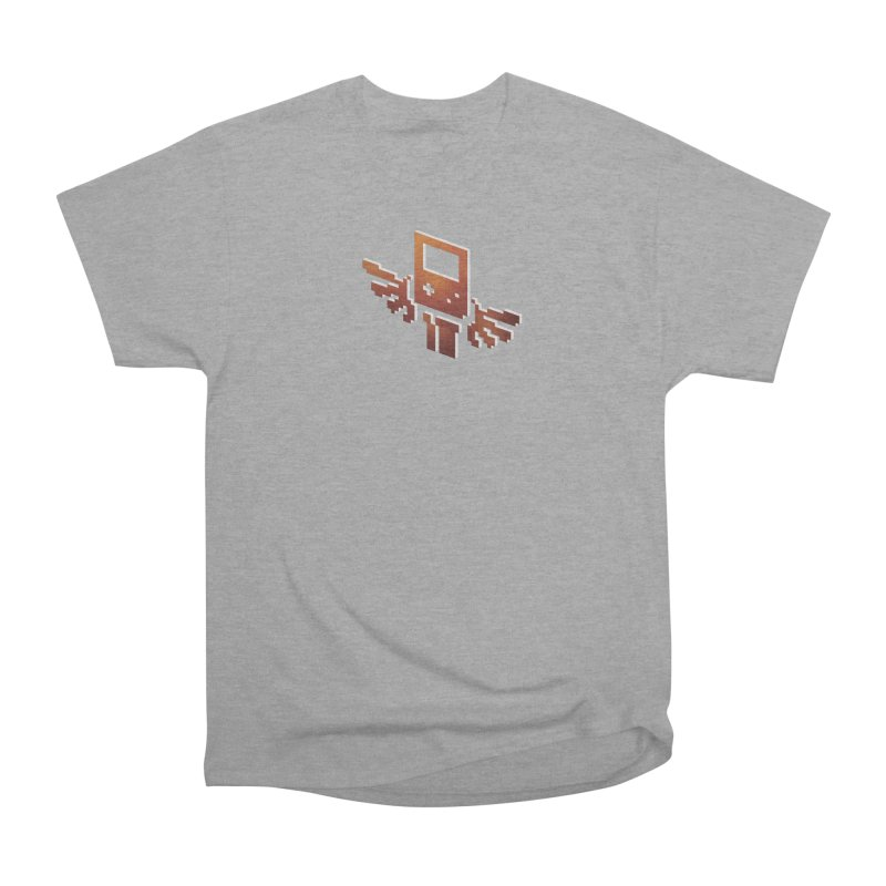The Emblem of Power in Men's Heavyweight T-Shirt Heather Graphite by Meager Quest Merch Store