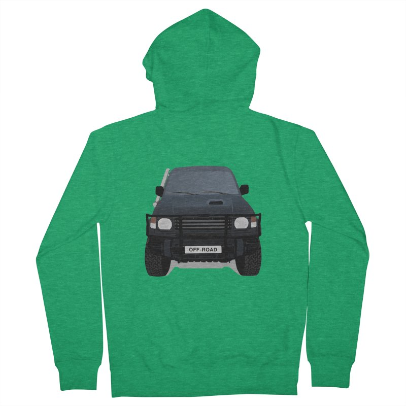 Let's Off Road Men's French Terry Zip-Up Hoody by Me&My3D