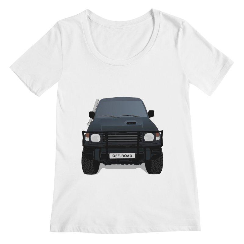 Let's Off Road Women's Regular Scoop Neck by Me&My3D