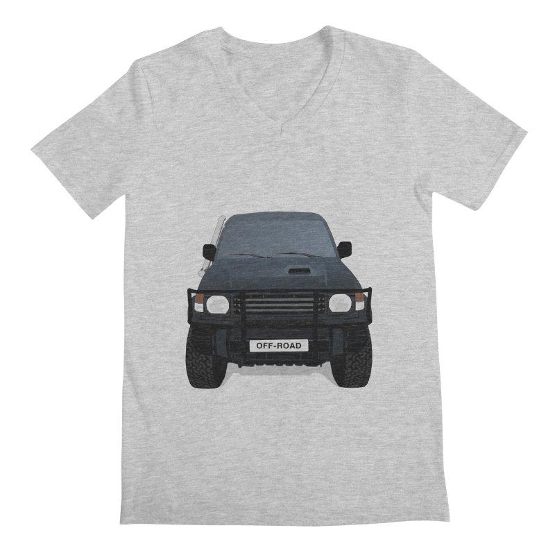 Let's Off Road Men's Regular V-Neck by Me&My3D