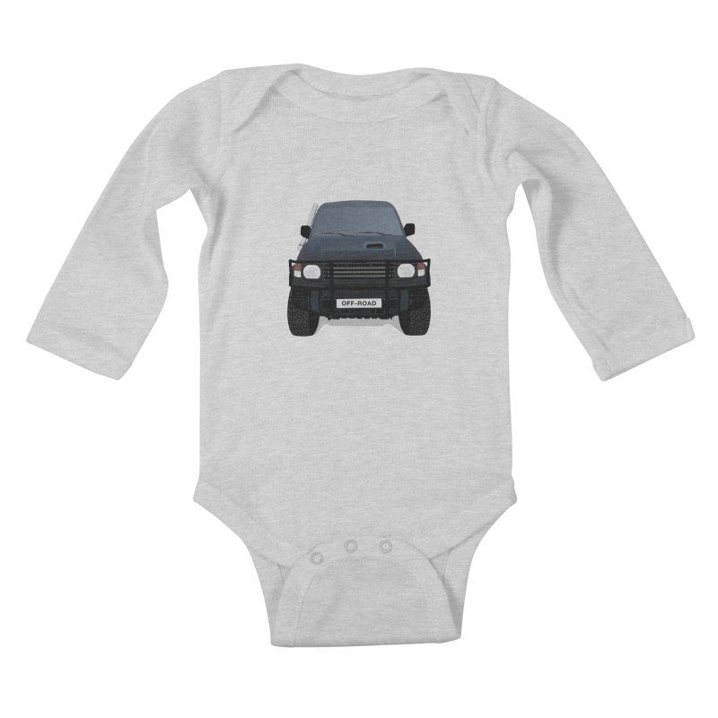 Let's Off Road Kids Baby Longsleeve Bodysuit by Me&My3D