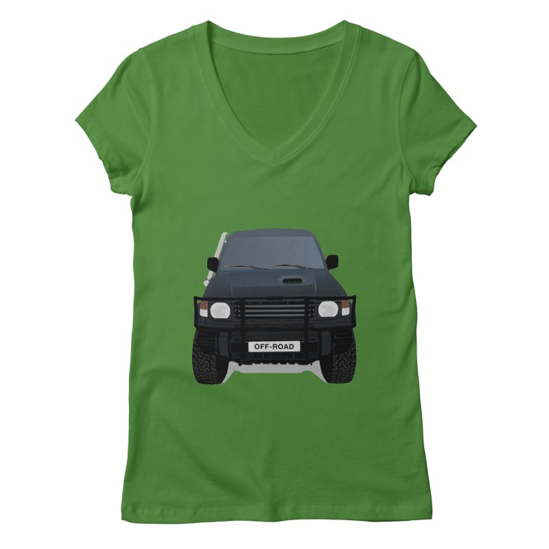 Let's Off Road Women's V-Neck by Me&My3D