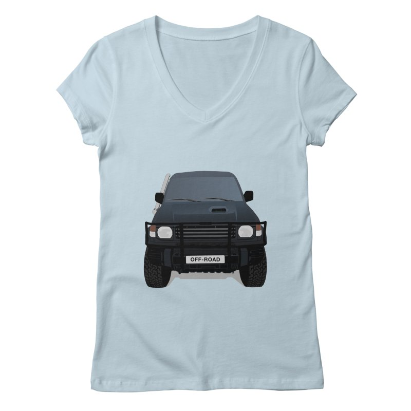 Let's Off Road Women's Regular V-Neck by Me&My3D