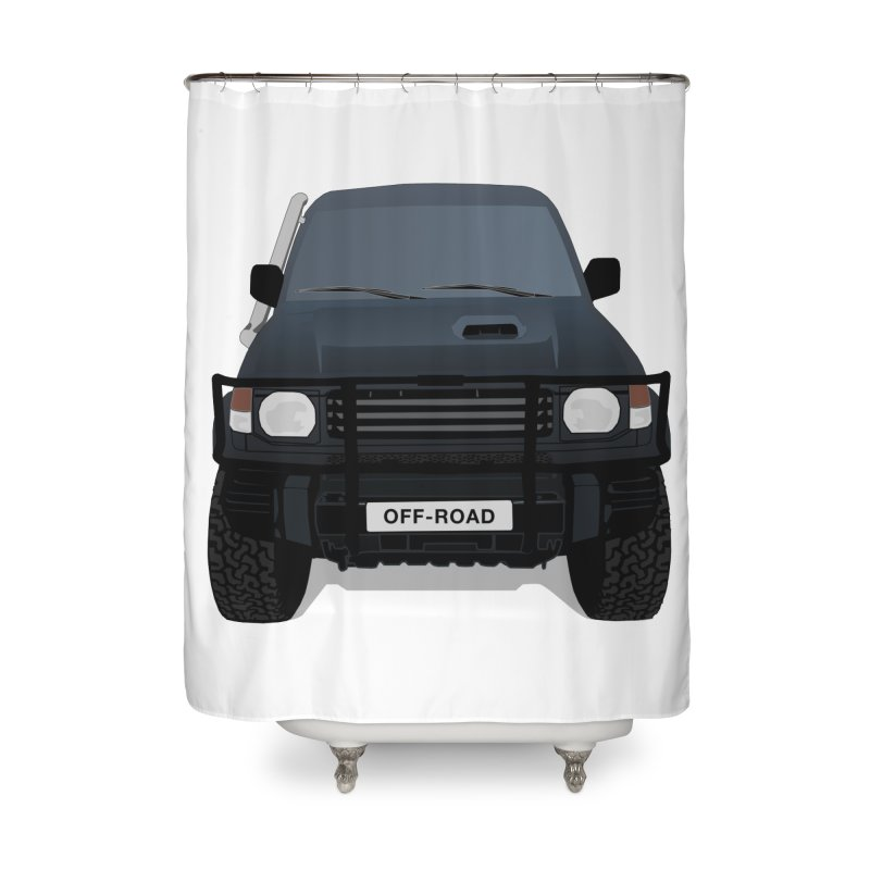Let's Off Road Home Shower Curtain by Me&My3D
