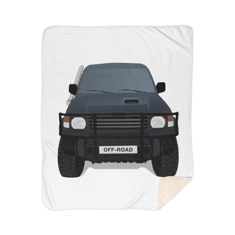 Let's Off Road Home Sherpa Blanket Blanket by Me&My3D