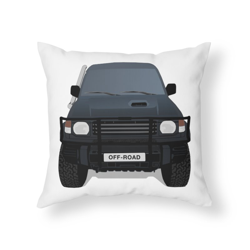 Let's Off Road Home Throw Pillow by Me&My3D
