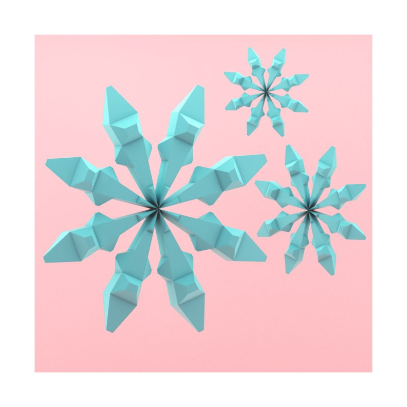 Snowflake (cyan and pink) Women's Zip-Up Hoody by Me&My3D