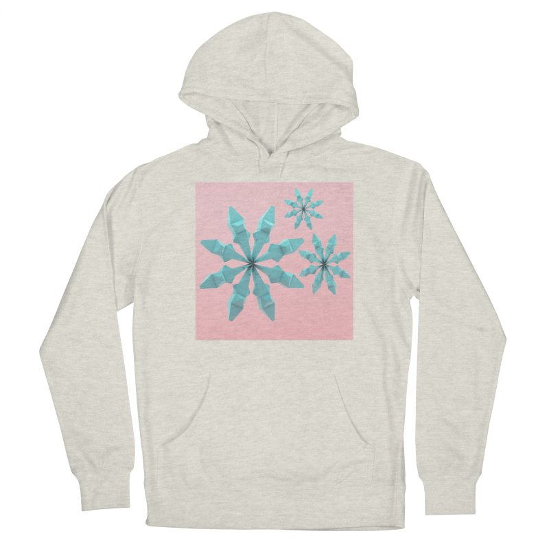 Snowflake (cyan and pink) Men's Pullover Hoody by Me&My3D