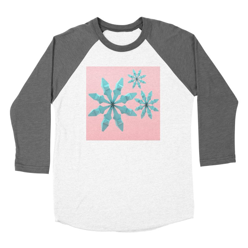 Snowflake (cyan and pink) Women's Longsleeve T-Shirt by Me&My3D