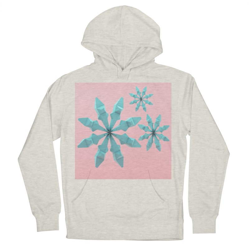 Snowflake (cyan and pink) Women's French Terry Pullover Hoody by Me&My3D