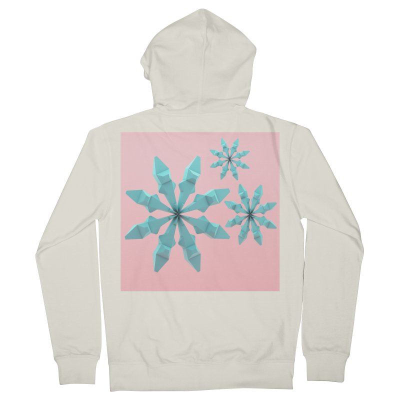Snowflake (cyan and pink) Women's French Terry Zip-Up Hoody by Me&My3D