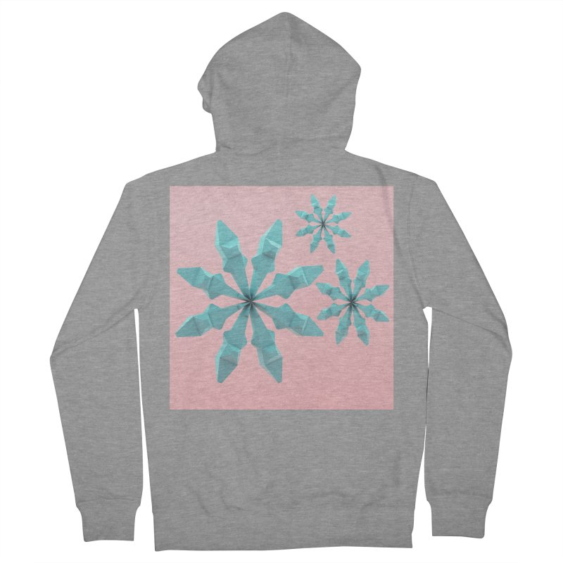 Snowflake (cyan and pink) Men's French Terry Zip-Up Hoody by Me&My3D