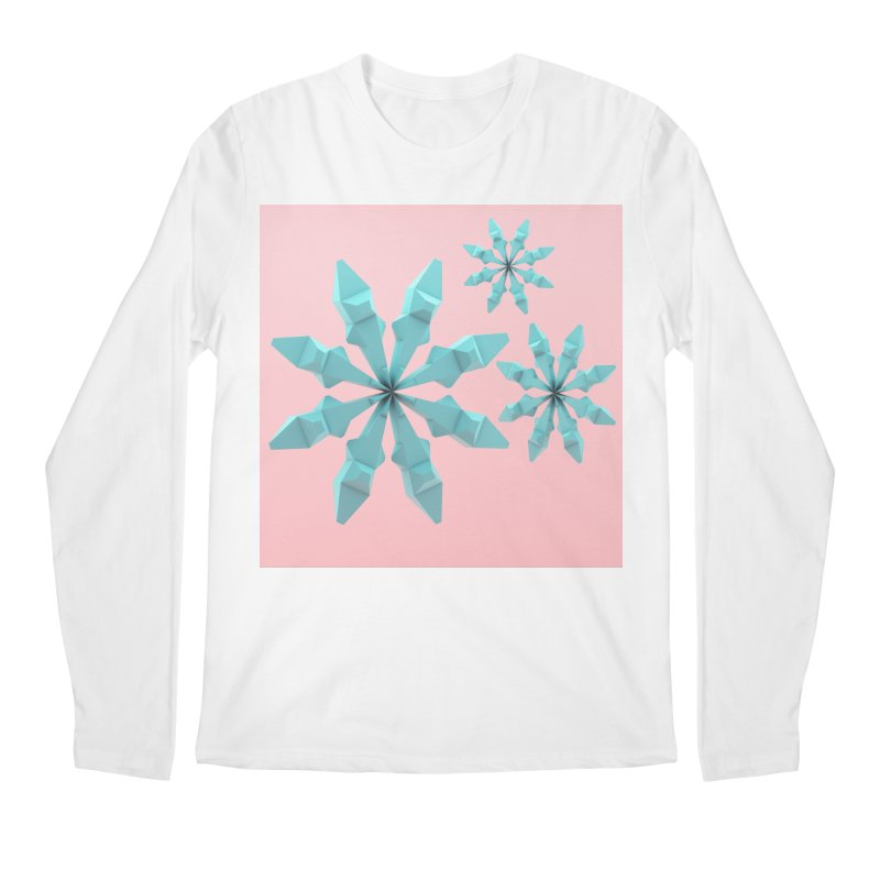 Snowflake (cyan and pink) Men's Regular Longsleeve T-Shirt by Me&My3D