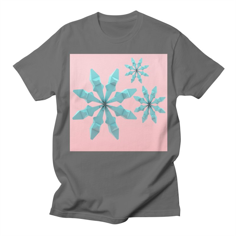 Snowflake (cyan and pink) Women's Unisex T-Shirt by Me&My3D