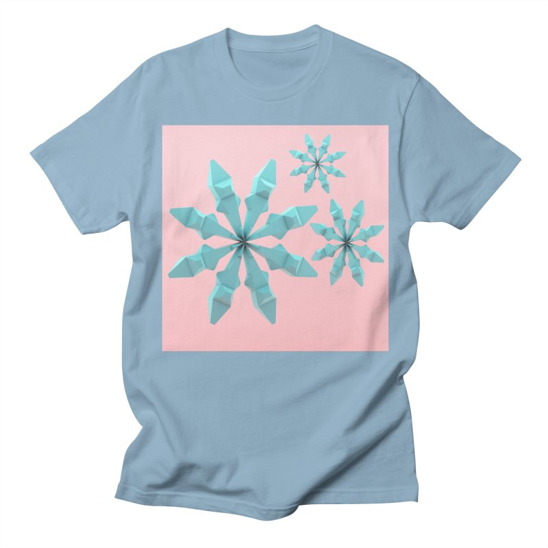 Snowflake (cyan and pink) Women's Regular Unisex T-Shirt by Me&My3D