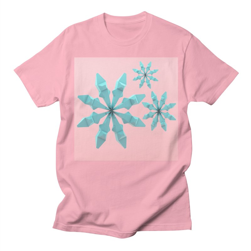 Snowflake (cyan and pink) Men's T-Shirt by Me&My3D