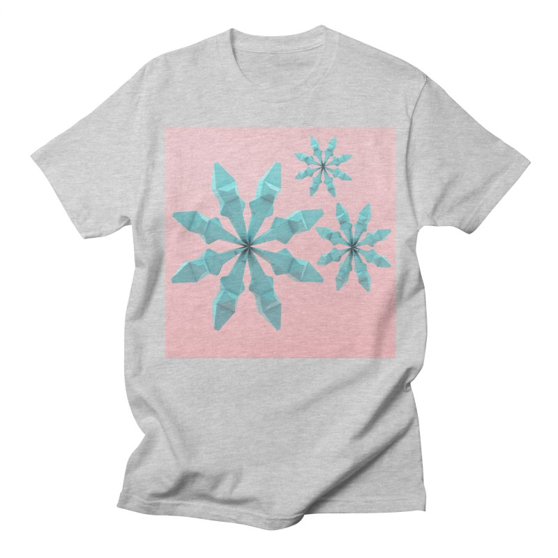 Snowflake (cyan and pink) Men's Regular T-Shirt by Me&My3D