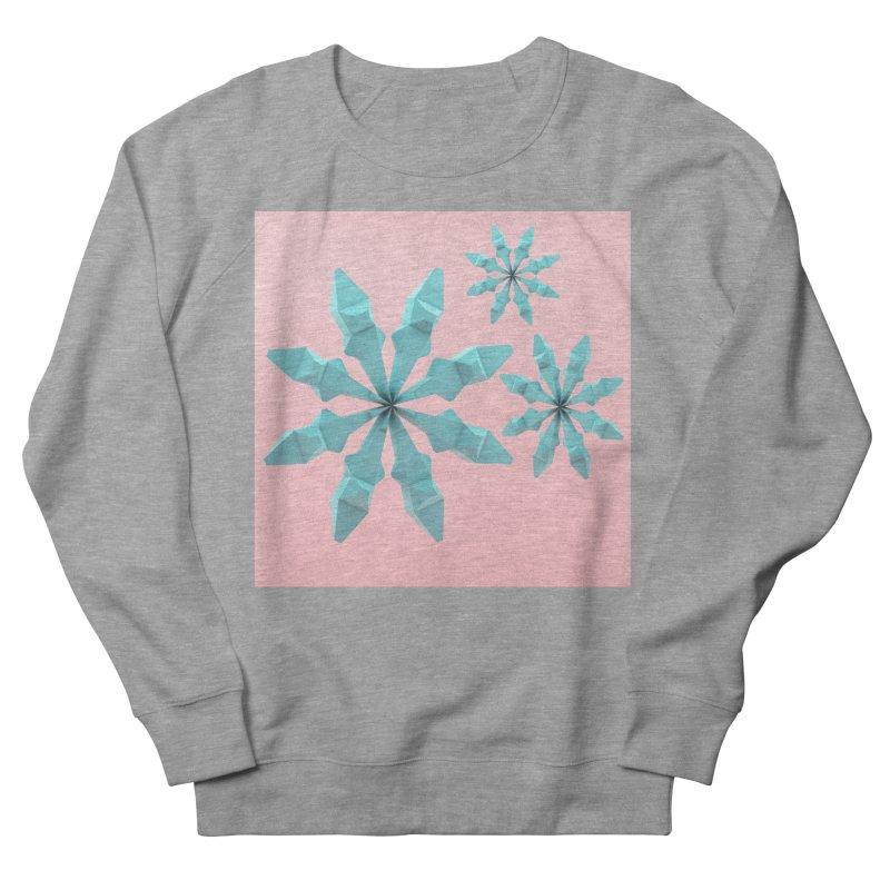 Snowflake (cyan and pink) Women's Sweatshirt by Me&My3D
