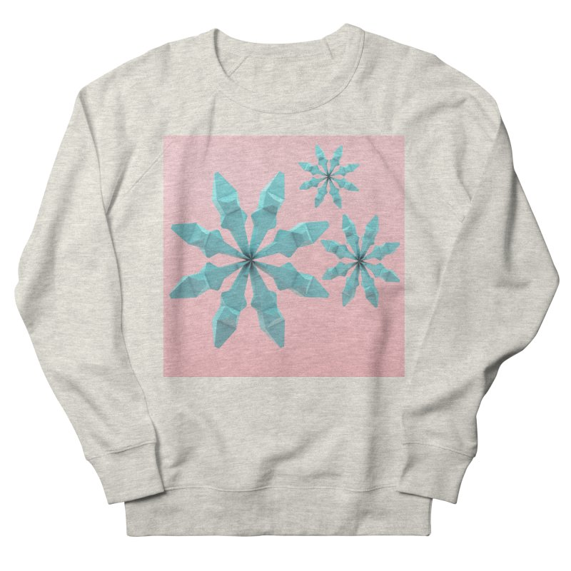 Snowflake (cyan and pink) Women's French Terry Sweatshirt by Me&My3D