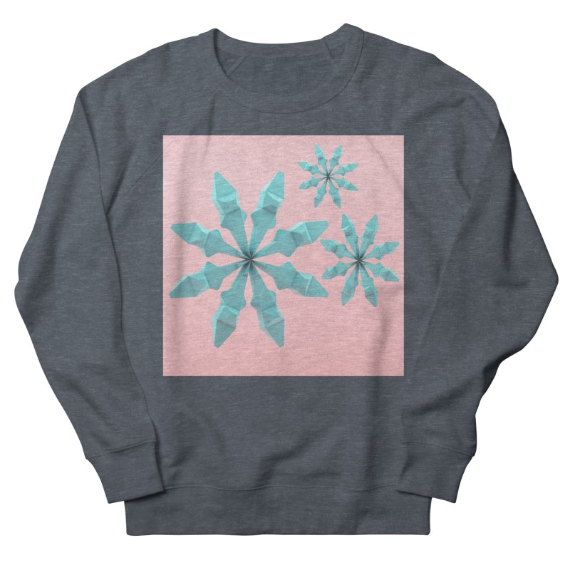 Snowflake (cyan and pink) Men's French Terry Sweatshirt by Me&My3D