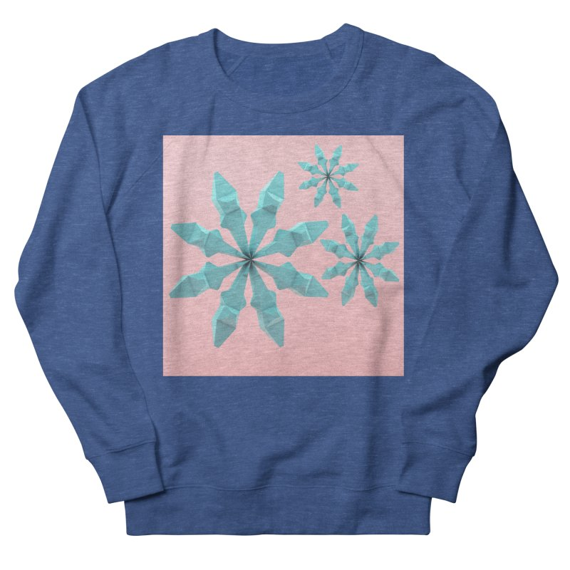 Snowflake (cyan and pink) Men's Sweatshirt by Me&My3D